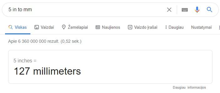 Google rezultatai - konvertavimas