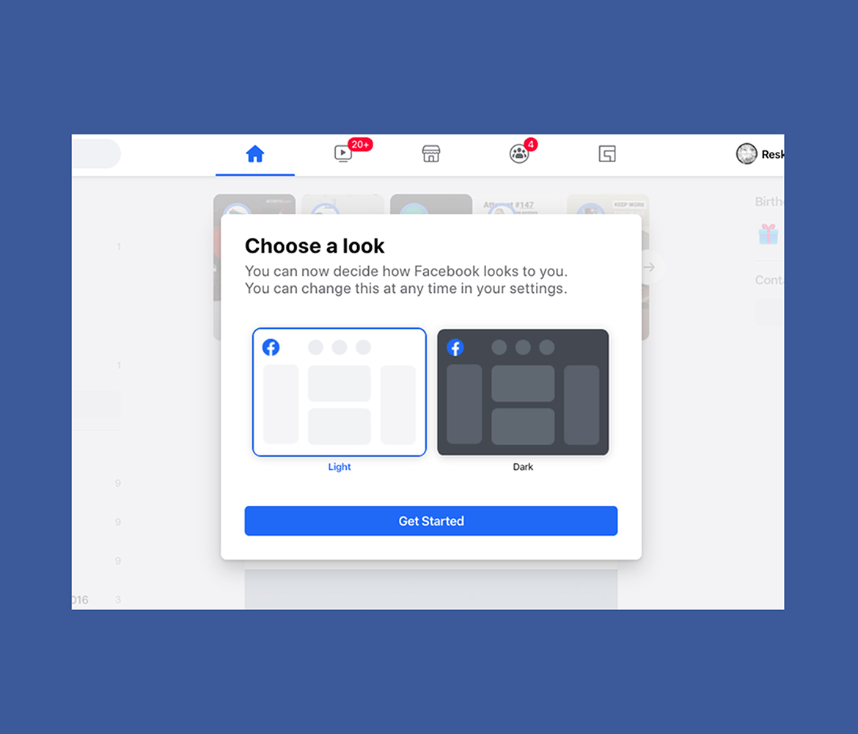 Facebook naujas dizainas