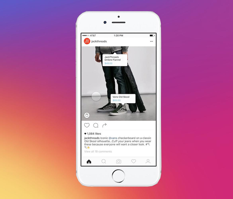 Instagram Shopping - parduotuvė