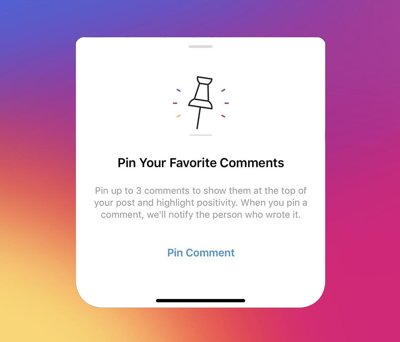 Instagram komentarų valdymas